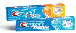 Zubné pasty Crest
