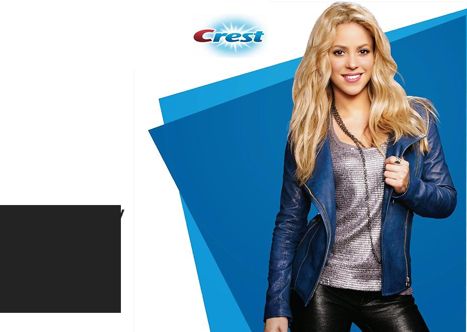 Shakira ako tvár značky Crest